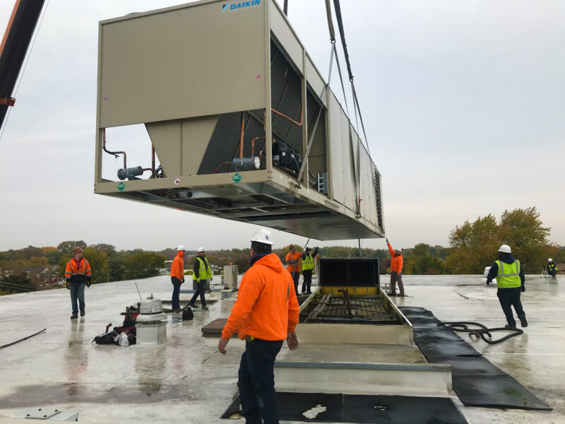 MOVING THE UNIT INTO PLACE